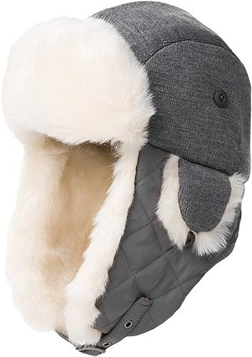 Snfgoij Chapeaux Casquettes De Ski Russe en Cuir Bomber Chapeau d'hiver Polaire Caps en Peluche épaississement Chaud en Plein Air