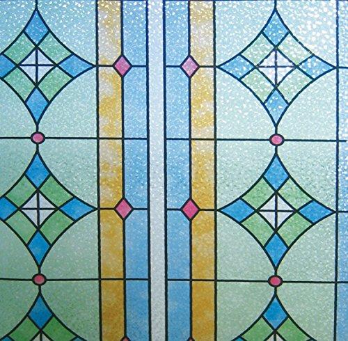 LINEA Fix Dekorfolie Buntglasdekor statische Fensterfolie GE-4603 92 x 150 cm
