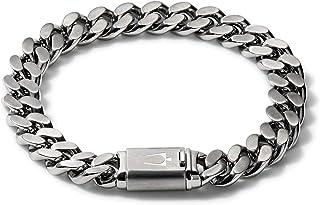 Mens Classic Chain Bracelet Silver J96B016 Large (J96B016L)
