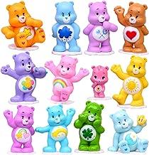 Rainbow Bear Figures 12pcs Cake Topper Toy, Bears Figurine Collection Playset with Wonderheart Bear, Funshine Bear, Cheer Bear