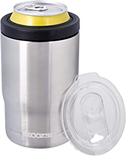 Koozie Stainless Steel Double Wall Vacuum Insulated Triple Can Cooler, Bottle or Tumbler - 12 oz. (Silver)