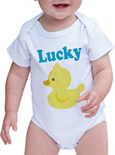 7 ate 9 Apparel Baby Boy's Lucky Duck Onepiece