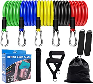 STYLEAGAL Resistance Bands Set, Tension Band Set for Weights Exercise, Heavy Anti Snap Resistant with Door Anchors & Handl...