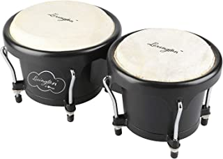 Bongo Drum Percussion Set 6 1/2 and 7 1/2 Inches withABS Resin & Natural Buffalo Heads for Kids, Enthusiasts