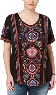 Style & Co Plus Size Printed High-Low Hem Top