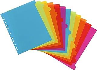 Viquel - Lot de 12 intercalaires en plastique - Maxi format (24,5x30,5cm) - Pour classeur A4 Maxi format ou classeur à lev...