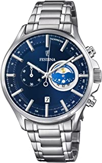 Festina F6852/2 For Men - Analog Casual Watch, Stainless Steel