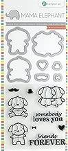 Hampton Art SC0826 Mama Elephant Lovey Puppy Stamp & Die Set, Multicolor