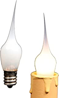 Creative Hobbies Mini Country Style Silicone Dipped Candle Light Bulbs, 3 Watt -Pack of 10 Bulbs