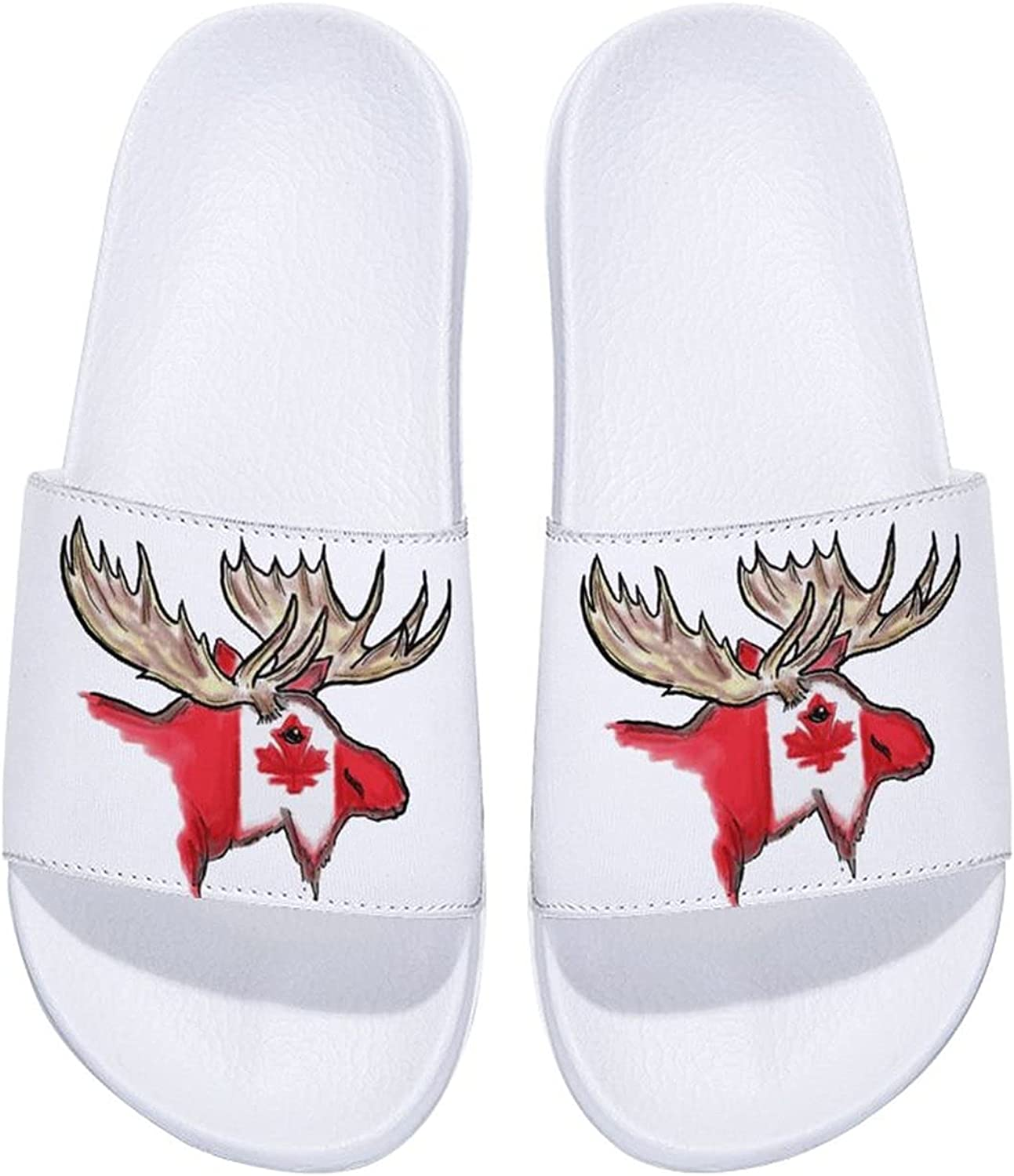 OFFicial site Elk in Canada Flag Men's and Slide 2021new shipping free Comfort Indoo Sandals Women's
