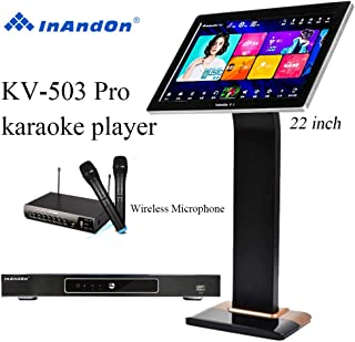 $1098 » 2020 New Type InAndon KV-503 Pro Karaoke Player,With Wireless Mic,22'' Capacitive Touch Screen Free Cloud download function,4K output (8T Harddisk, Black Touch Screen)