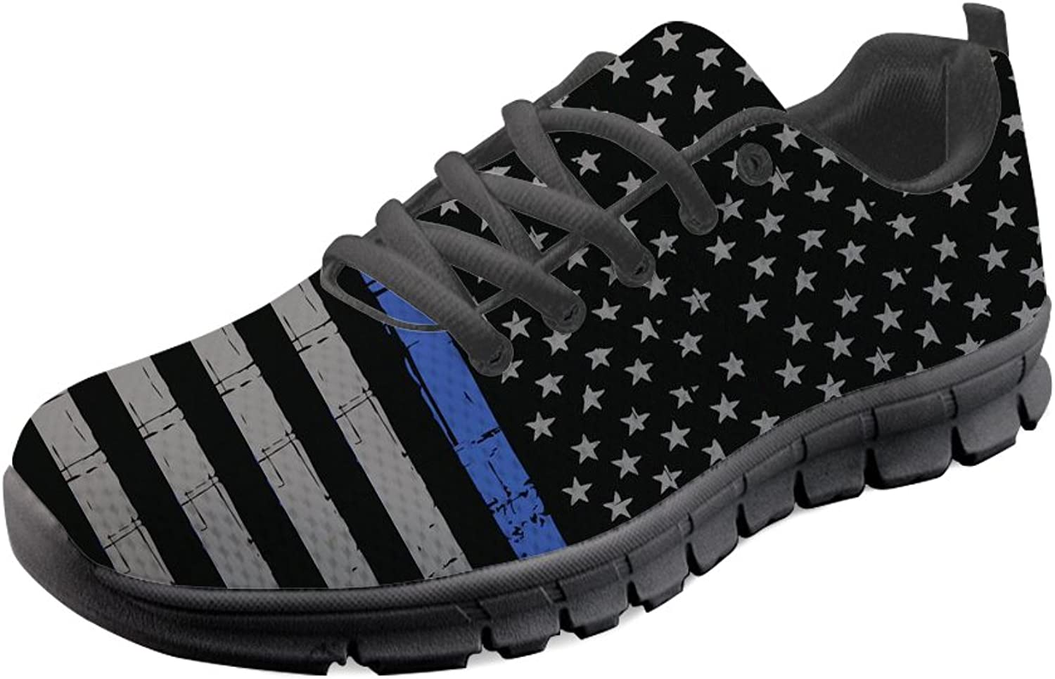 HUGS IDEA British Flag Pattern Men Running Sneakers Lightweight Walking shoes