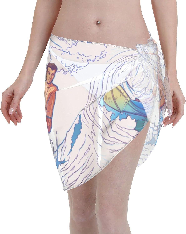 U.S Coast Guard Women's Swimsuit Cover Ups,Women Short Sarongs Beach Wrap Sheer Bikini Sexy WrapsUps for Swimwear