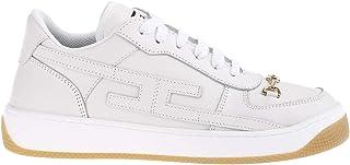 Elisabetta Franchi Scarpa Donna Avorio SA 83H 11E2 D Sneaker Bassa Logo Catena