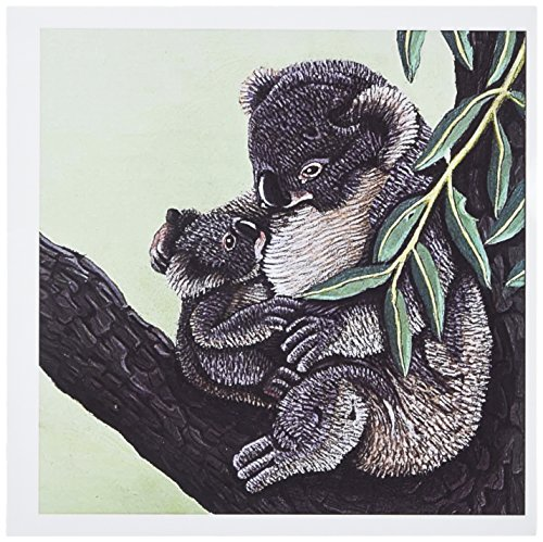3dRose KOALA MOTHER - Greeting Cards, 6 x 6 inches, set of 6 (gc_3208_1)