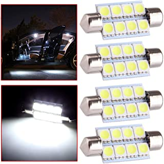 OCPTY Extremely Bright 39mm Festoon White Light for 6411 6418 C5W DE3423 6413 DE3425 Car Interior Dome License Plate Door Lights Pack of 4