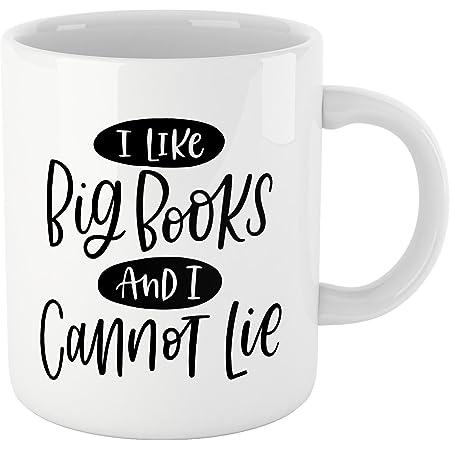 I Like Big Books /& I Cannot Lie Mug-Unique gift for reader birthday present mug for book lover
