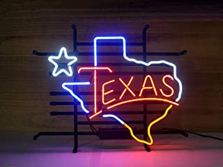 LDGJ Texas Neon Light Sign Home Beer Bar Pub Recreation Room Game Lights Windows Glass Wall Signs Party Birthday Bedroom Bedside Table Decoration Gifts (Not LED)