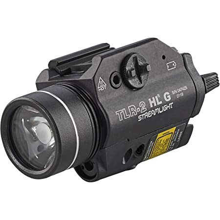 Streamlight 69265 TLR-2 1000 High Lumens G Rail Mounted Flashlight with Green Laser, Black