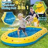 2021 Summer 3-in-1 Splash Pad, Sprinkler for Kids and Toddler Pool for Backyard, Dinosaur Children's Sprinkler Pool, 66'' Inflatable Water Toys Outdoor Kiddie Pool for Babies & Toddlers