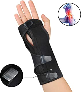 Carpal Tunnel Night Time Wrist Brace for Right and Left Hands - Cushioned to Help with Carpal Tunnel and Relieve and Treat Wrist Pain, Adjustable, Black