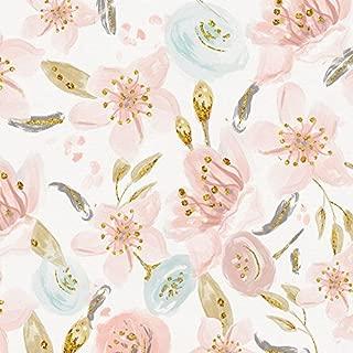 Carousel Designs Pink Hawaiian Floral Fabric by The Yard - Organic 100% Cotton