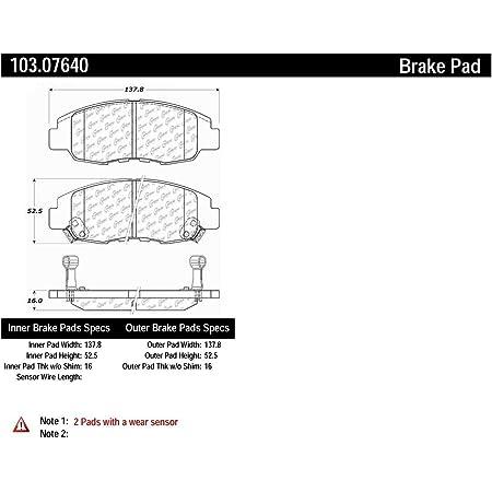 Centric Parts 300.03540 Semi Metallic Brake Pad with Shim