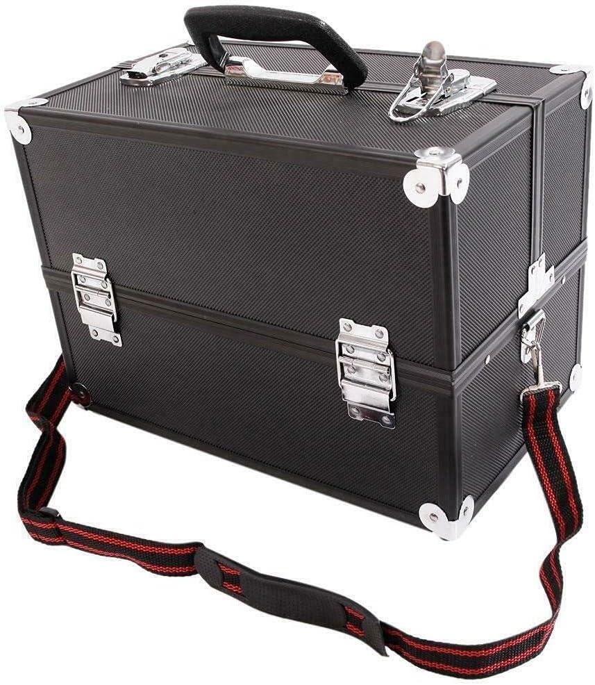 Professional Large Aluminum Makeup Train Las Vegas Mall Ranking integrated 1st place Case Box Cosmetic Jewel