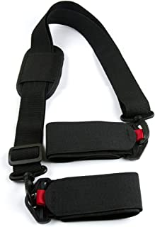 Rainier Home Ski Carrier Strap Adjustable Shoulder Sling Cushioned for Superior Comfort Cushioned Loops to Prevent Damage Complete with Storage Bag and Comes with Ski Boot Carrying Strap Black