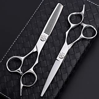 Hairdressing Barber Salon Scissor, Thinning Scissors - Set of Hair Scissors - Razor Edge Barber Scissors Set of 6.0 Inches...