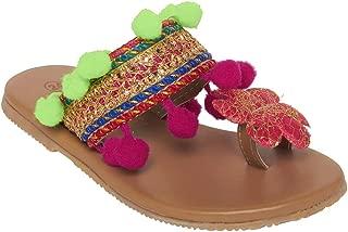 CHIU Unisex Kid's Red Boat Shoes-2 UK (18 EU) (MSKKH-Flower-22)