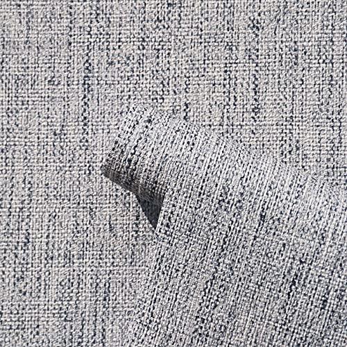 Papel pintado de vinilo con textura sintética, autoadhesivo, impermeable, para decoración de muebles de habitación, 15.7 x 78.7 pulgadas de grosor
