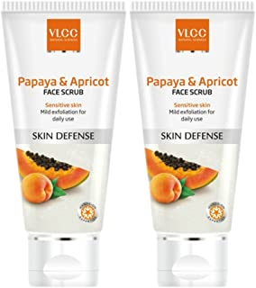 VLCC Papaya & Apricot Face Scrub (80g) (Pack of 2)