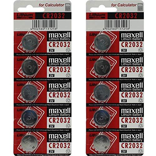 Pilas de botón de litio de 3 V Maxell originales Cr2032, 10...