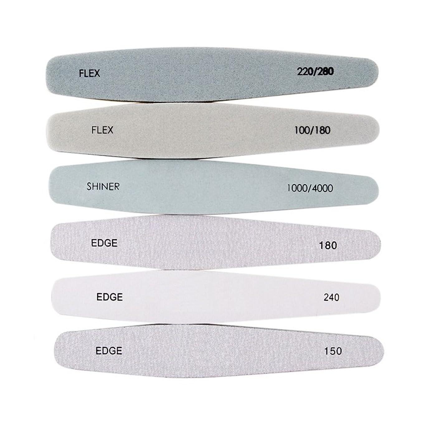視力規範更新爪やすり 爪磨きネ イルファイル 6本セット シンプルで使いやすい