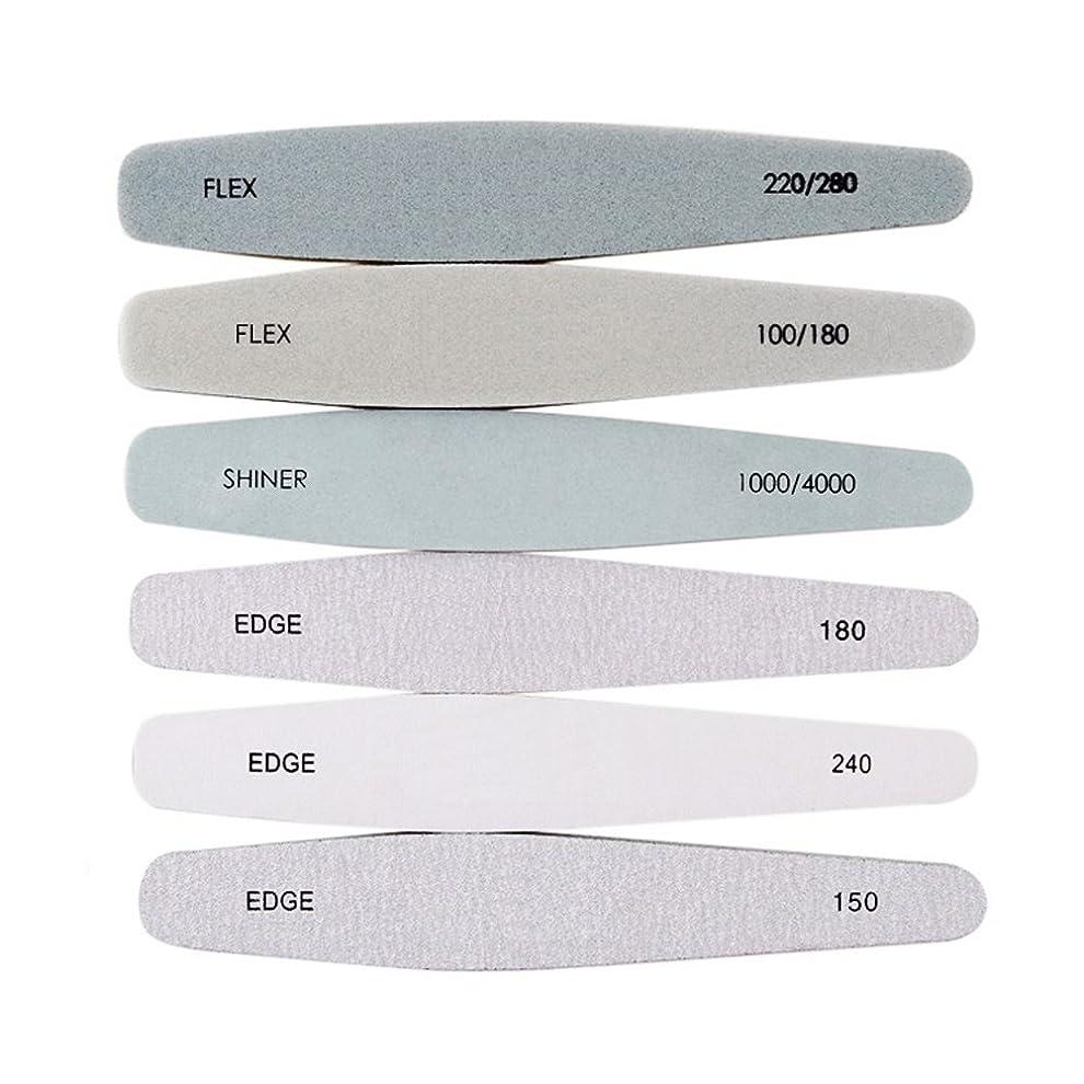 モス濃度シャツ爪やすり 爪磨きネ イルファイル 6本セット シンプルで使いやすい
