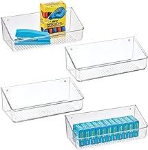 mDesign Wall Mount Plastic Home Storage Organizer Holder Tray Basket - Hanging Bin Shelf for Walls/Doors in Entryway, Mudr...