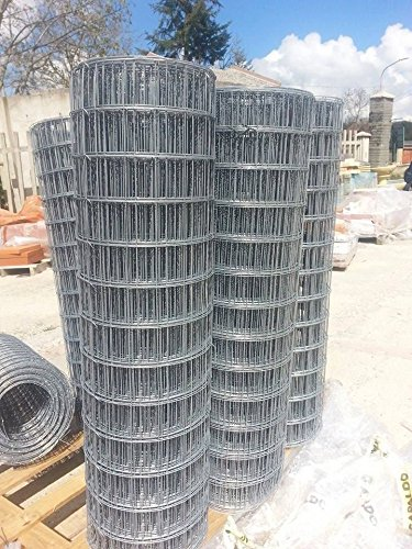 Malla electrosoldada galvanizada 50x 75x 150(altura). Rollo de 25m.