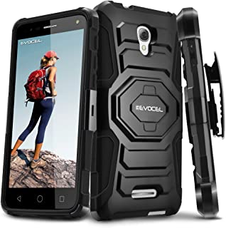 Alcatel OneTouch Fierce 4 Case, Evocel [New Generation Series] Belt Clip Holster, Kickstand, Dual Layer for Alcatel OneTouch Fierce 4, POP 4+ 5.5 inch, OneTouch Allura (5056), Black