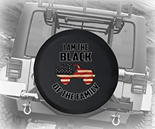 I Am The Black Sheep of The Family Vintage Flag Print 4x4 Off Road Vehicle Spare Tire Cover Camper RV Accessories 30 Inch