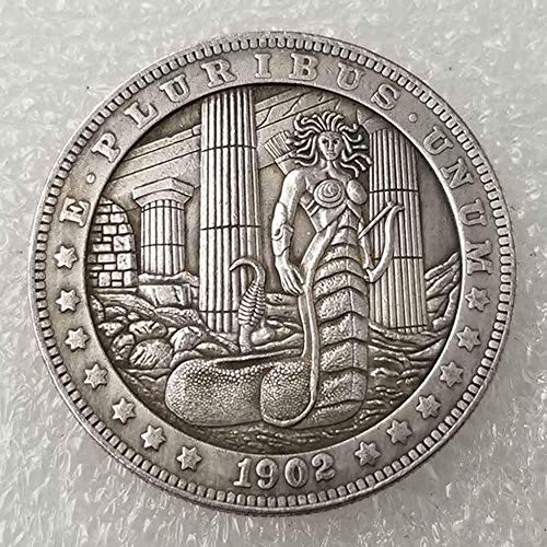 YunBest Best Morgan Silver Dollars – Hobo Moneda de níquel – 1902 Moneda de colección-Plata Dólar USA Old Morgan Dollar BestShop