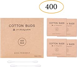 400pk Paper Stick Cotton Buds with Eco Friendly Packaging,Biodegradable Cotton Buds for Cleaning Ear and Doing Makeup from Kiemeu