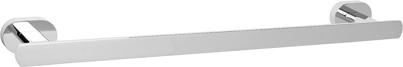 72.0x18.0x4.0 cm CM BA/ÑOS POR1006 Porta Toallas de Pared Cromo Brillante Metal