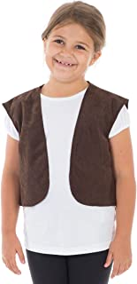 Charlie Crow Brown Waistcoat for Kids one Size fits All 3-8 Years