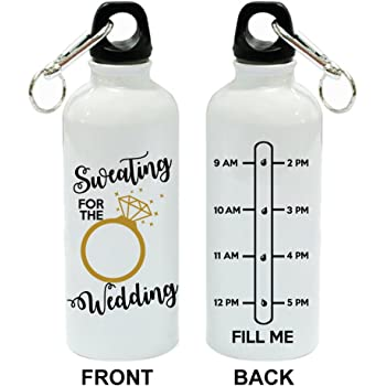 Sweating For The Wedding White Aluminum Sports 20 oz Water Bottle