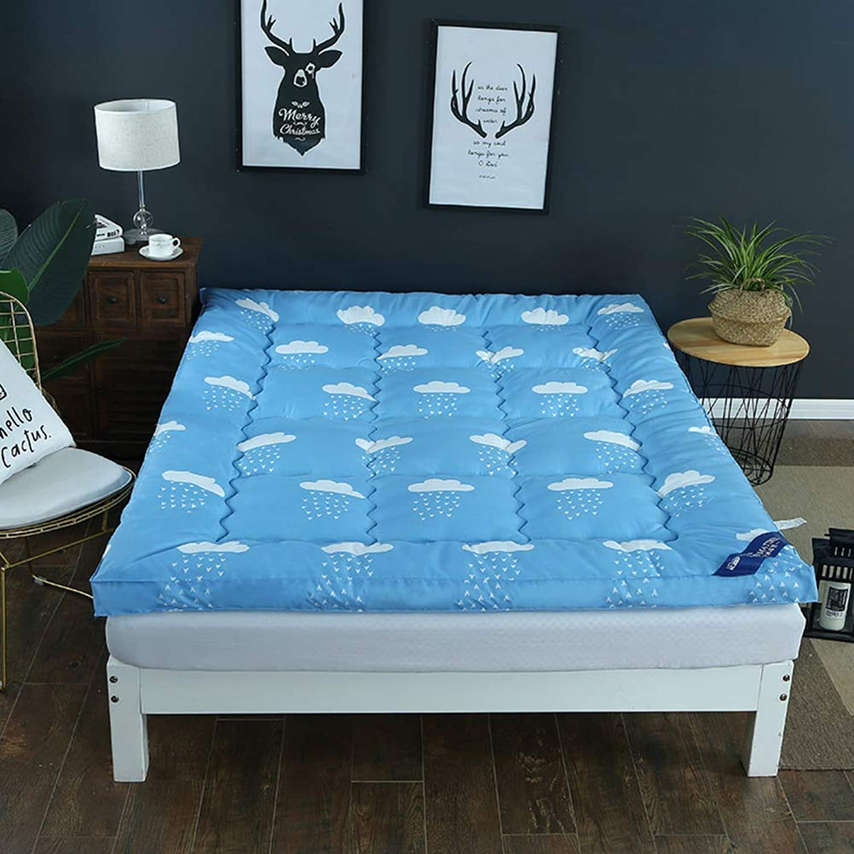 Seasons Thicken Warmth Tatami Floor mat,Student Dormitory Single Double Foldable Mattress-G 120x200cm(47x79inch)