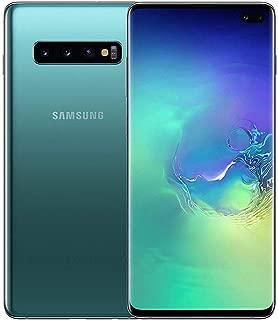 Samsung Galaxy S10+ Plus 128GB / 8GB RAM SM-G975F Hybrid/Dual-SIM Factory Unlocked 4G/LTE Smartphone - International Version (Prism Green)