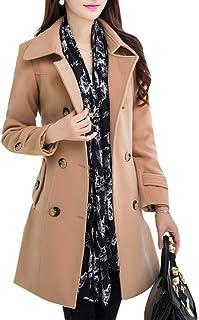maweisong ウールブレンドダブルは、オーバーコートコート