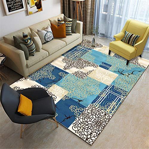 Kunsen alfombras Online alfombras Exterior terraza Sala de Estar Azul Alfombra Humedad Antideslizante alfombras alfombras 80X120CM 2ft 7.5' X3ft 11.2'