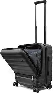 Endless Trip スーツケース 機内持込 MAXサイズ フロントオープン 軽量 サイド 滑り止め 40L 1-4泊 LCC対応 オールPC素材 マット加工 多収納ポケット 静音 ダイヤル式 TSAロック 8輪 キャスター トップオープン キャリーケース 機内持ち込み ビジネス 出張 旅行 【メーカー1年保証】